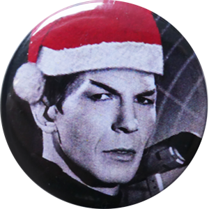 Spock with Christmas hat