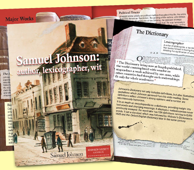 Booklet about the life of Samuel Johnson