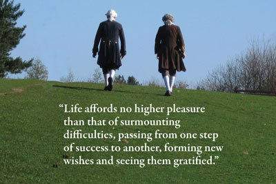 Samuel Johnson and David Garrick walk to London