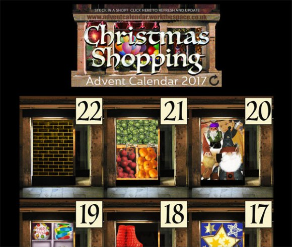Christmas shopping advent calendar