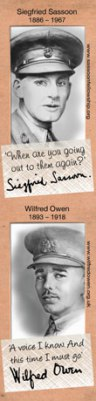 Wilfred Owen and Siegfried Sassoon for the ALS bookmark